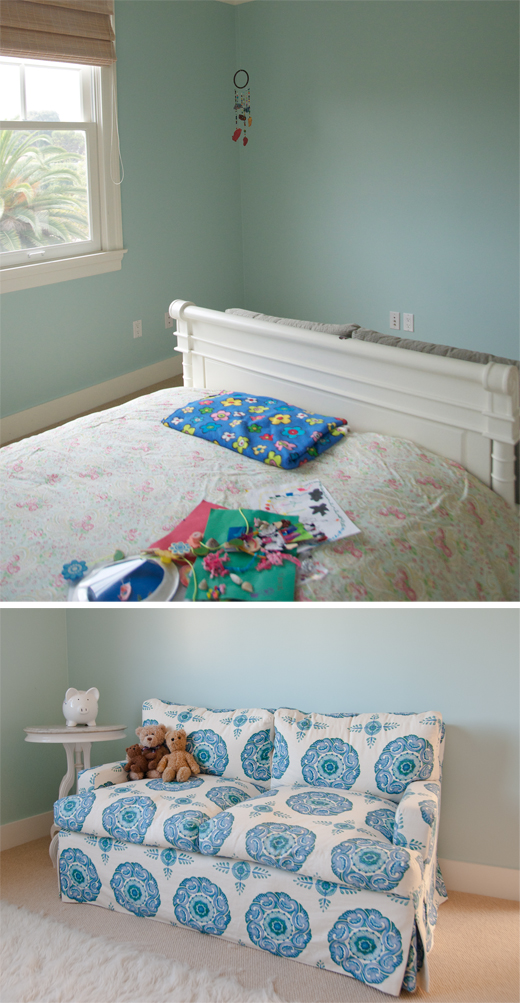 A simple solution ot adding color to a girls bedroom @DL Rhein