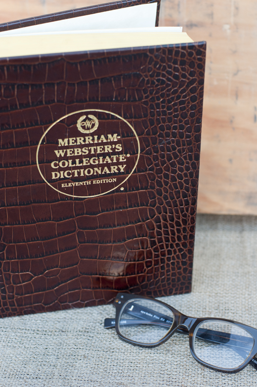 Leather Bound Webster's Dictionary | D.L. Rhein