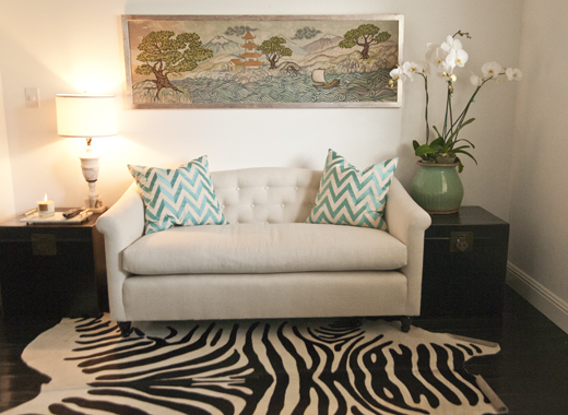 A small loveseat + nook in the bedroom changes the entire vibe | D.L. Rhein