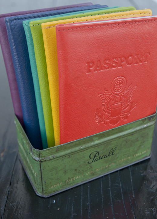 Brighten Up Your Passport Photos with these Neon Leather Covers | D.L. Rhein