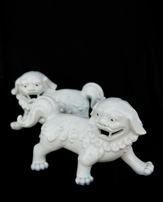 A set of White Foo Dogs dresses up any holiday table | D.L. Rhein