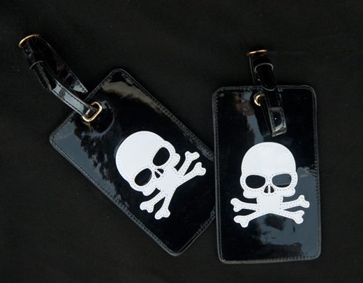 Travel in Style with these Skeleton Luggage Tags | D.L. Rhein