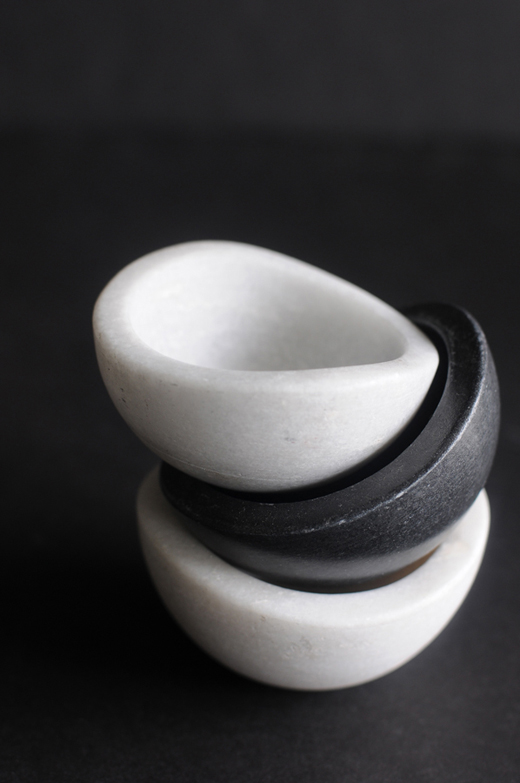 Black + White Salt Cellars | D.L. Rhein