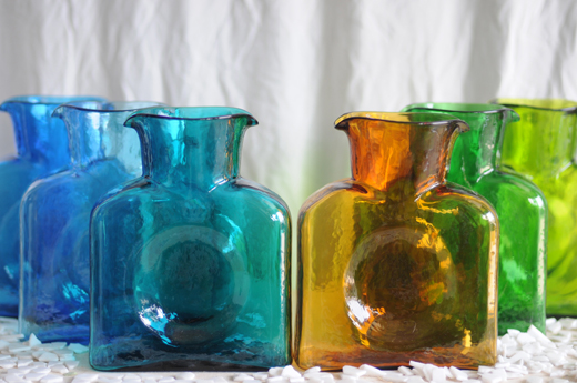Bienko Colored Glass Pitchers/Vases | D.L. Rhein