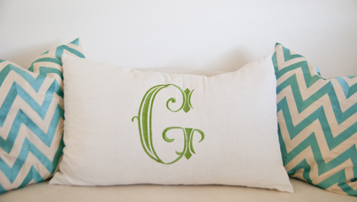 Say it with a Monogram Pillow | D.L. Rhein