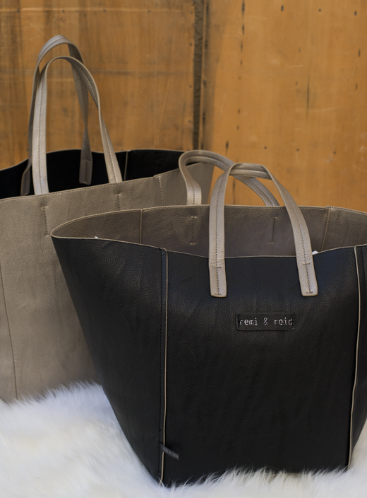 Vegan Black Leather Tote | @DL Rhein