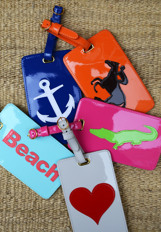 Patent Leather Luggage Tags | @DL Rhein