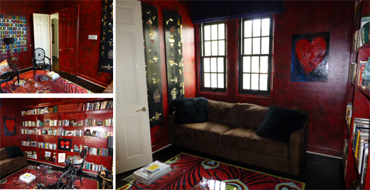 From Red to Black - A Room Makeover  | D.L. Rhein