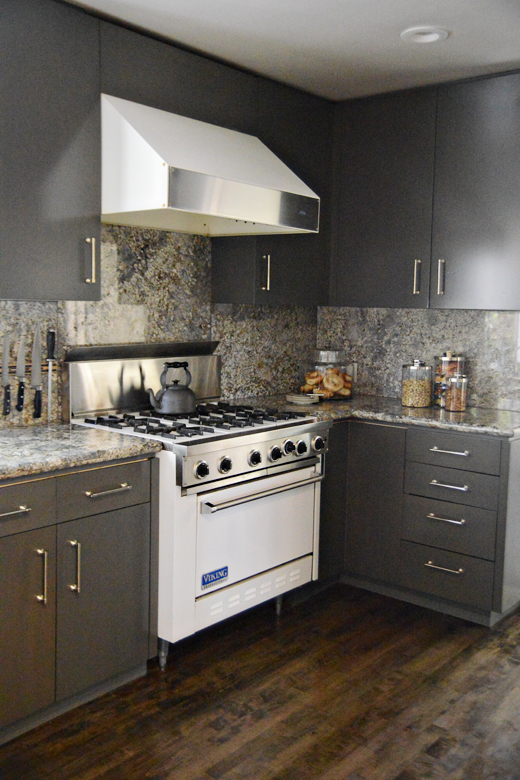 This kitchen had not been updated for 30 years. Click here to read how easy it is to get this sleek look  #makeover #kitchen #interiordesign | @D.L. Rhein