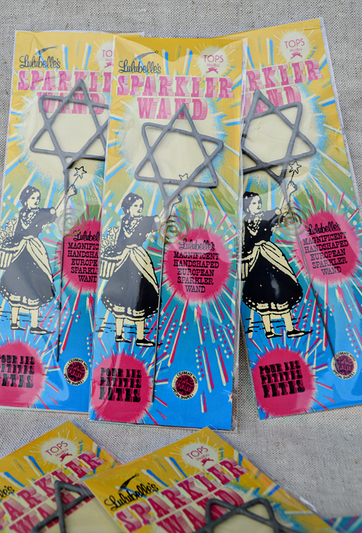 Celebrate your 8 nights with light and style - Star of David Sparklers - $6 | D.L. Rhein