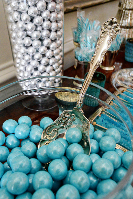 Vintage Serving pieces add some whimsy and sophistication to this grown up candy land | @D.L. Rhein