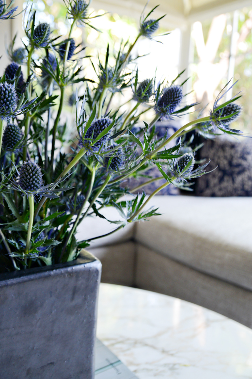 Fresh Thistles | Ceramic Vase | #dlrhein #flowers #interiordesign
