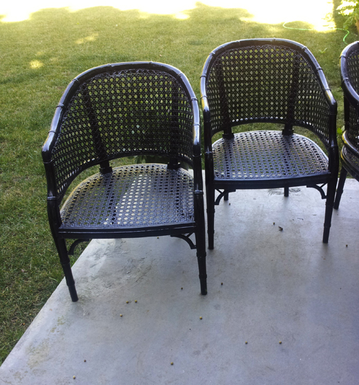 BEFORE | #cane chairs pre-tufting