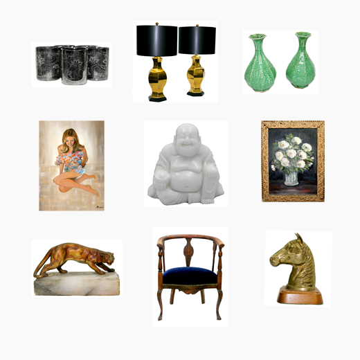 These treasures are one of a kind and guarantee to spark interest in the home and conversation with guests. #hunting #vintage #treasures #antiques #design #interiors #shelfdecor | @D.L. Rhein