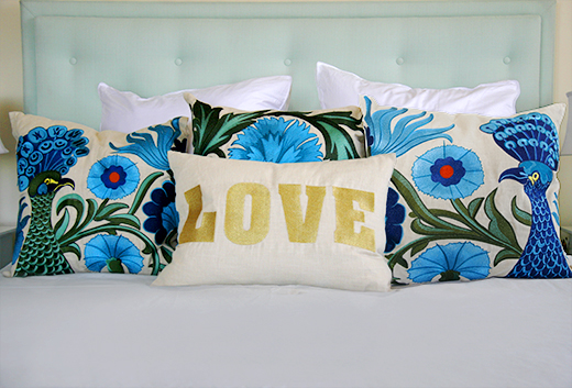 DL Rhein Embroidered Pillows | #dlrhein