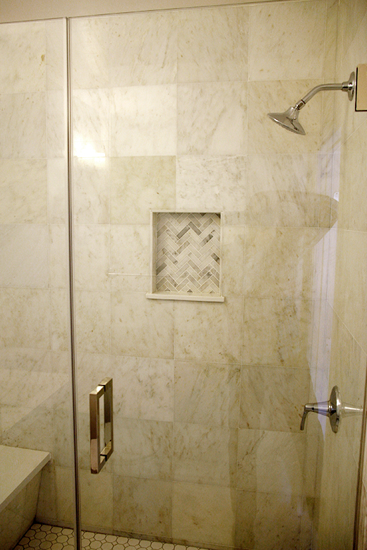 AFTER | GUEST BATH SHOWER REMODEL #dlrhein #marble #shower