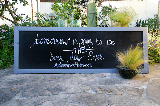 Best Day Ever Wedding Chalkboard