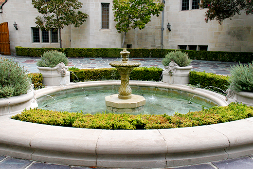 Central Courtyard Fountain at Greystone Mansion | D.L. Rhein