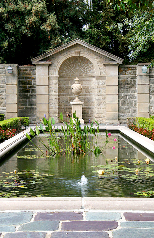 Reflecting Pool at Greystone Mansion | D.L. Rhein