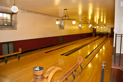 Greystone Mansion Bowling Alley seen in There Will Be Blood | D.L. Rhein