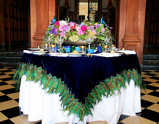 Custom Tablescape we designed for GreyStone Mansion in collaboration with Seed Floral | D.L. Rhein