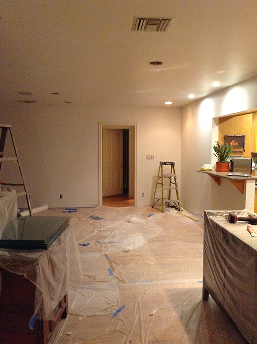 BEFORE | ENCINO LIVING ROOM TO KITCHEN