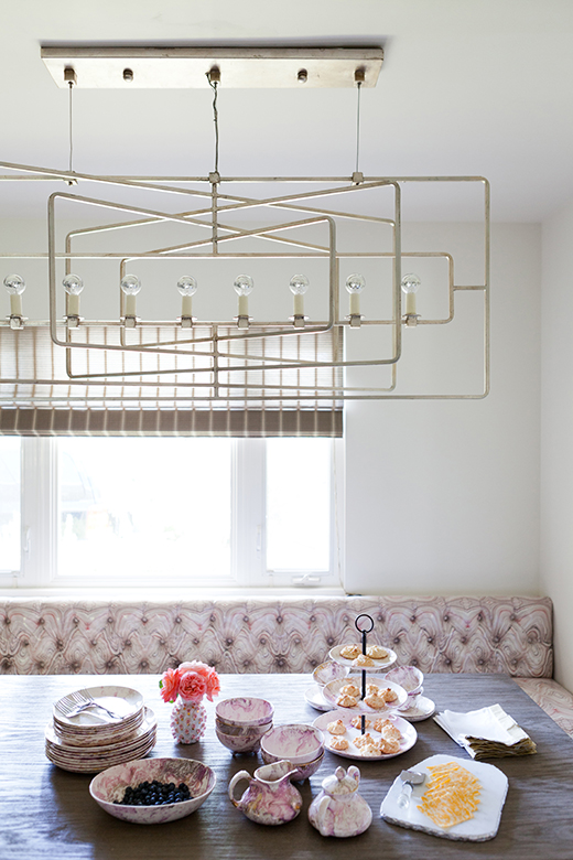AFTER |ENCINO KITCHEN BREAKFAST NOOK | D.L. RHEIN #kitchen #breakfastnook #metrochandelier #taniavartan #dlrhein