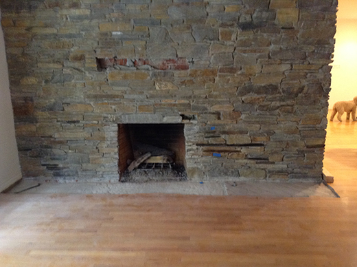 BEFORE | DINING ROOM FIREPLACE