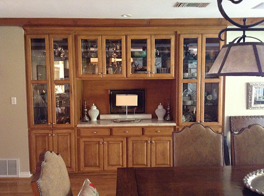 BEFORE | DINING ROOM BUILT INS