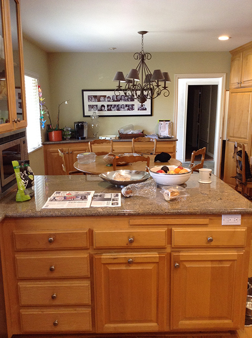 BEFORE | ENCINO KITCHEN ISLAND