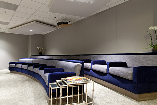 AFTER | Stadium Seating in new screening room | D.L. RHEIN #screeningroom #dlrhein