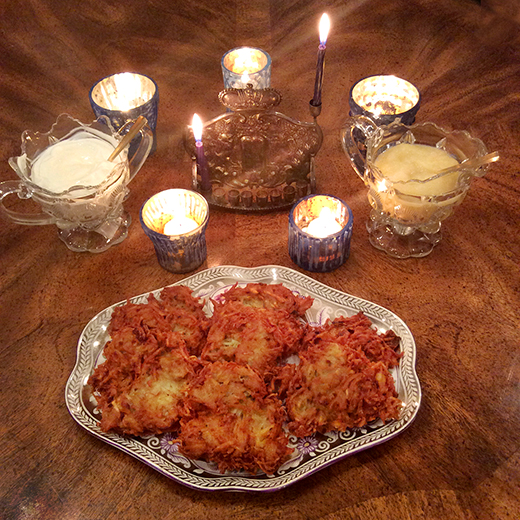 Happy Hannukah! Latkes and Lights!