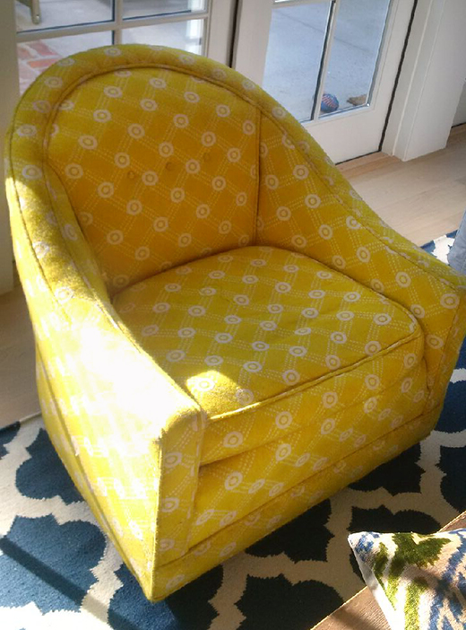 BEFORE - Vintage Yellow Chair