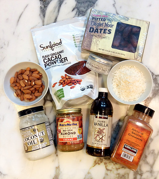 Almond Chocolate Date Truffles Ingredients