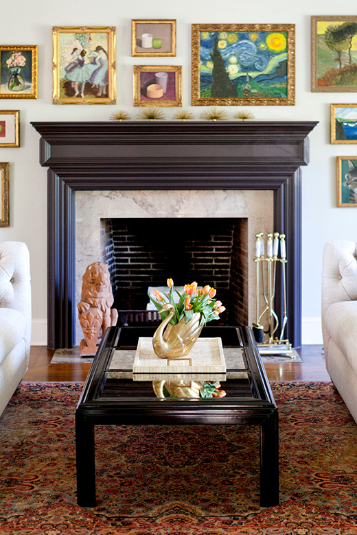 Gallery Wall and Hearth | Cheviot Hills | D.L. RHEIN