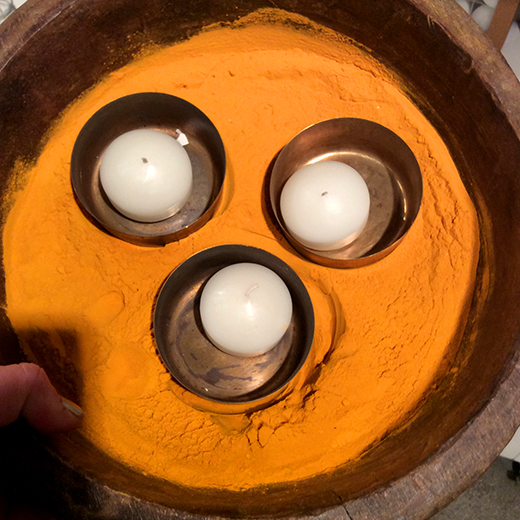 Tumeric and candles