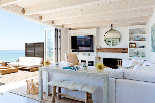 BEACH HOUSE LIVING ROOM | MALIBU | DESIGN BY D.L. RHEIN, PHOTO BY AMY BARTLAM